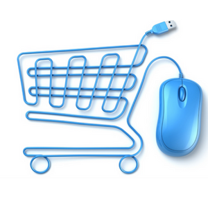 shopping cart and mouse